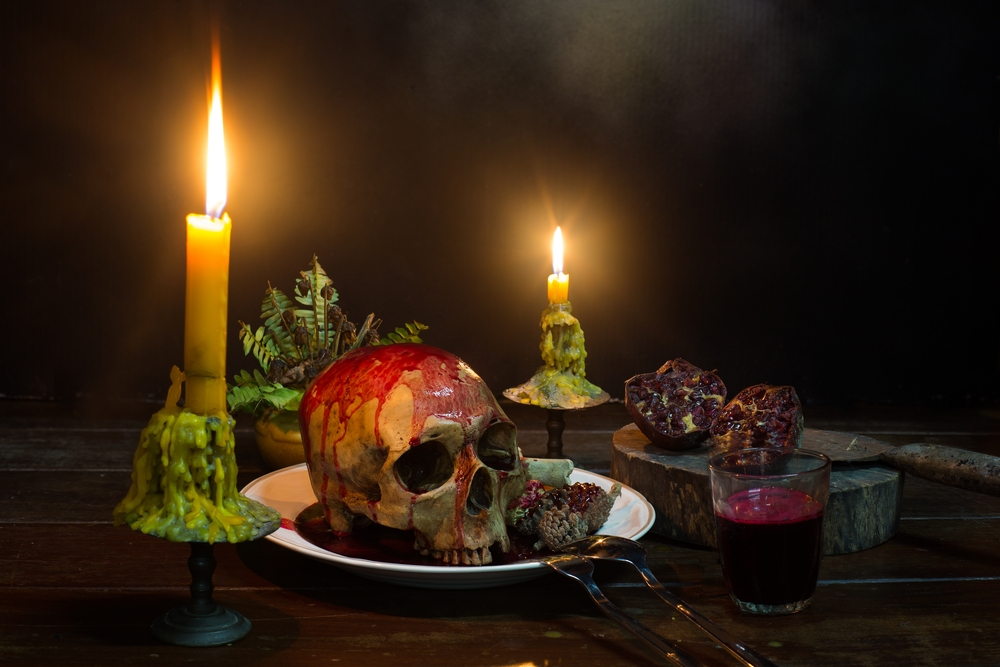 The Last Supper Escape Room - skull on a plate